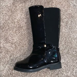 The Children's Place Black Tall Boots 7T (toddler)